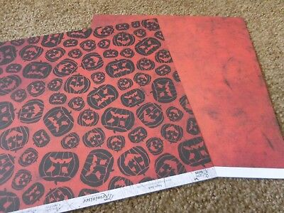 Scrapbooking Crafts 12X12 DS Paper Halloween Jack-O-Lanterns Pumpkins Repeats - Halloween Paper Lanterns Crafts