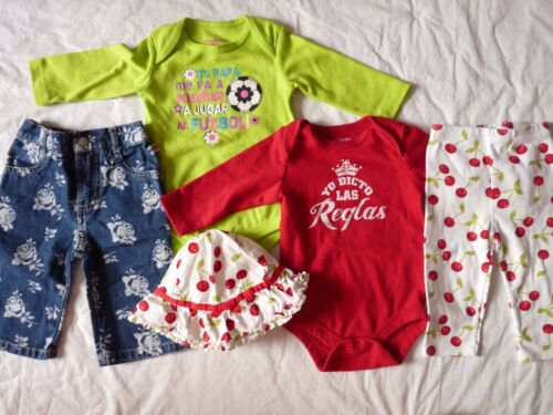 Lot Of 5  3-6 Months Spanish Football Queen Creeper Hat Jeans Gymboree