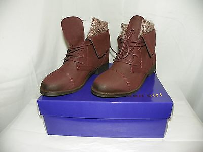 MADDEN GIRL RUXBEN BURGUNDY ANKLE BOOT NEW IN BOX SIZE 7.5 - Girl In Red Boots