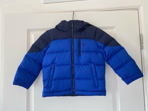 POLO Ralph Lauren Boys Puffer Coat Jacket Size 4/4T Blue/Navy  Color $139 NEW