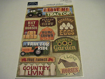 Scrapbooking Crafts Karen Foster Stickers Love My Tractor Farm Farmer Hay Ride