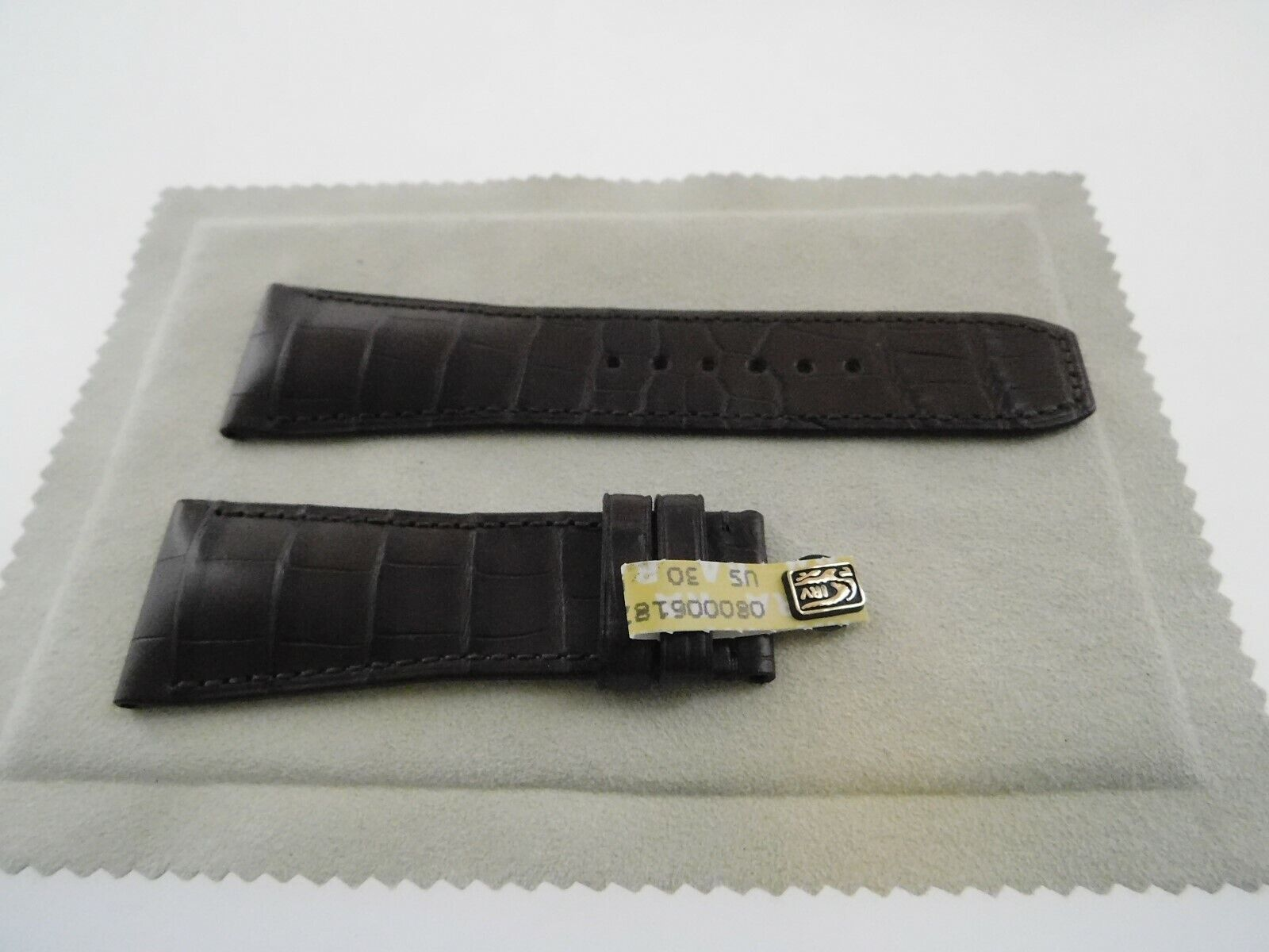 Neu  Baume & Mercier Original echt Louisiana ALLIGATOR Armband braun 28-22mm