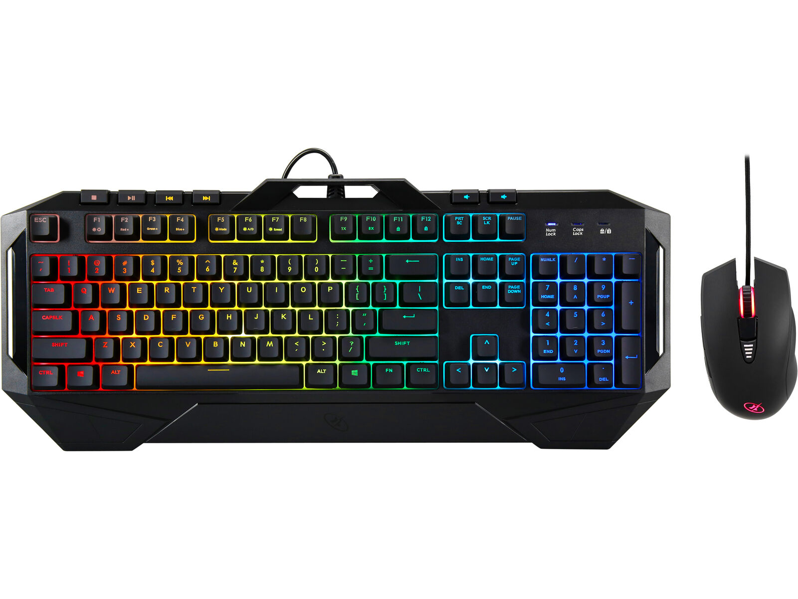 ROSEWILL Gaming RGB Keyboard and Mouse Combo, Rainbow RGB Ba