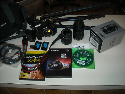 CANON EOS 70D DIGITAL CAMERA WITH LOTS OF EXTRAS SEE DETAILS 30 day sale