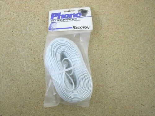 RECOTON 100 ft Modular Line Cord New Sealed