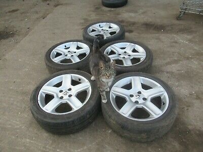 PEUGEOT 307 4 STUD ALLOY WHEEL WHEELS x5 & FREE 205 50 17 TYRES (SEE DESCRIPTION
