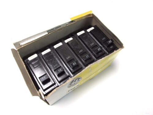 NIB ... GE 30A, 1P Plug-In Circuit Breakers Cat# THQL1130 (Box of 6) .. GG-18