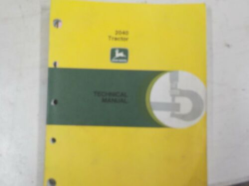 John Deere 2040 Service Manual TM4300 Technical Manual