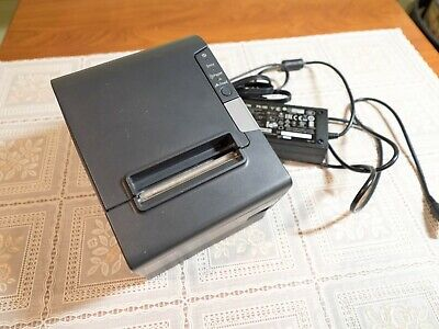Epson Tm-t88v Thermal Pos Receipt Printer Rj-11usb Interface Power Cable