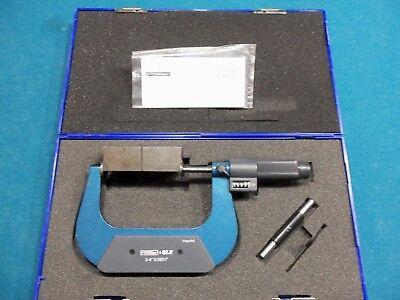 Fowler 52-250-024 Ez-read Digital Disc Micrometer 3-4 .0001 New In Box