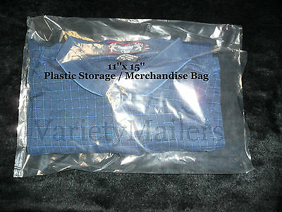 25 Clear Plastic Open End Merchandise Storage Bags 11x 15 1.5 Mil Quality