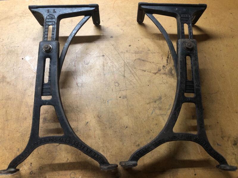Vintage Kenney Bros & Wolkins Cast Iron Adjustable Legs