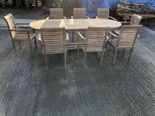 Garden Furniture - GARDEN TABLE AND CHAIRS TEAK FURNITURE ::::))()((