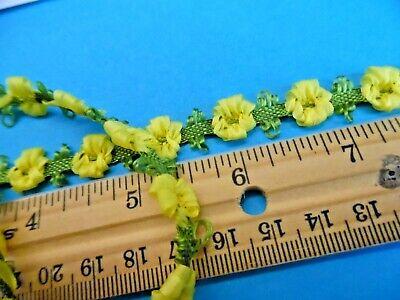 NEW COLOR!  SILKY FLOWER TRIM~SUNSHINE YELLOW~1/2