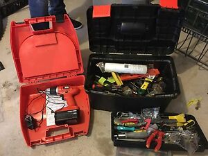 Tool box and drill