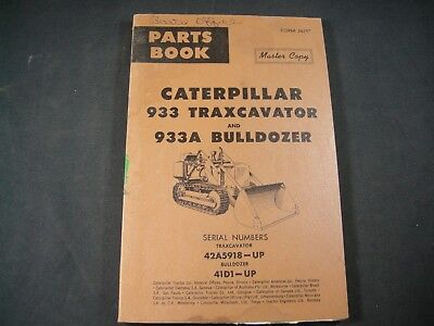 Cat Caterpillar 933 933a Traxcavator Bulldozer Parts Manual Book 42a5918-up 41d1