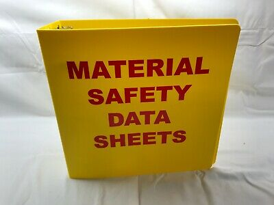 Brady 2024 Binder11-34 In. W3-14 In. D - Material Safety Data Sheets Binder