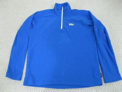 Helly Hansen Daybreaker Polartec Light Fleece 1/2 Zip Pullover Blue Men Medium