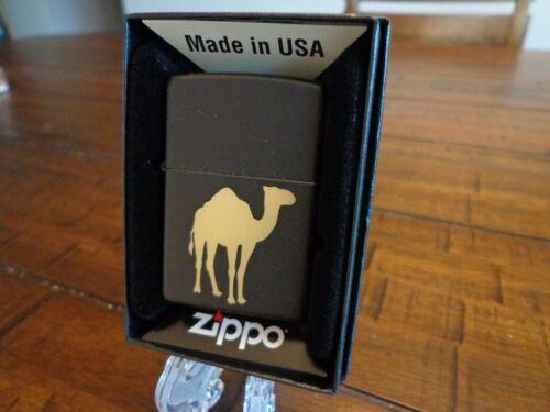 CAMEL BLACK MATTE ZIPPO LIGHTER MINT IN BOX
