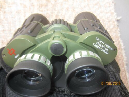 Day/Night prism 60x50 Military  Zoom Powerful Binoculars Optics Hunting Camping