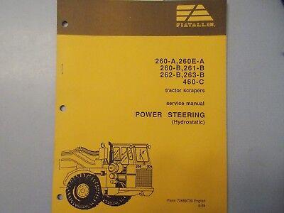 Fiat Allis 260 260-a 260e-a 261-b Tractor Scraper Power Steering Service Manual