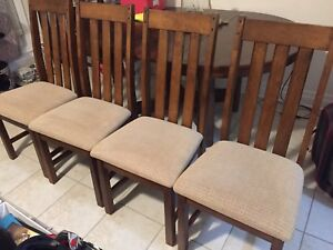 Set of 4 EUC Solid Wood Dining Chairs