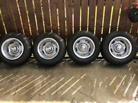 Corvette rally wheels and tires
