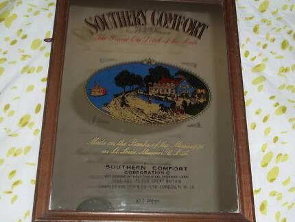 genuine southern comfort bar mirror.45yrs old
