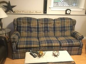 SOLD     Used sofa bed and  rocking/reclining arm chair for sale