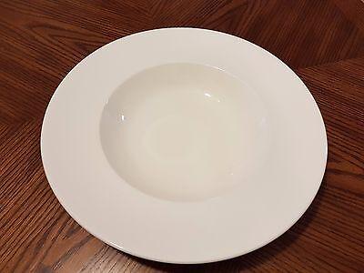 """BAUSCHER WEIDEN Vitro-Collection White Rimmed Round Fruit/Vegetable Bowl 12"""""""