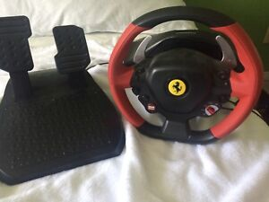 Ferrari racing wheel and pedals for Xbox one