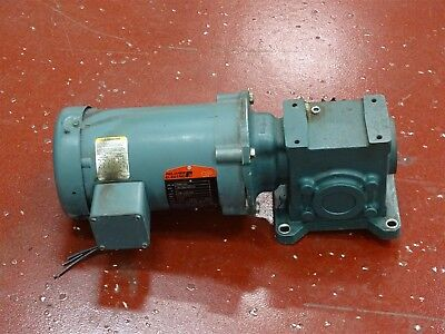Reliance P56h1441 Electric Motor 1hp 208-230460v W Tigear Reducer Ratio101
