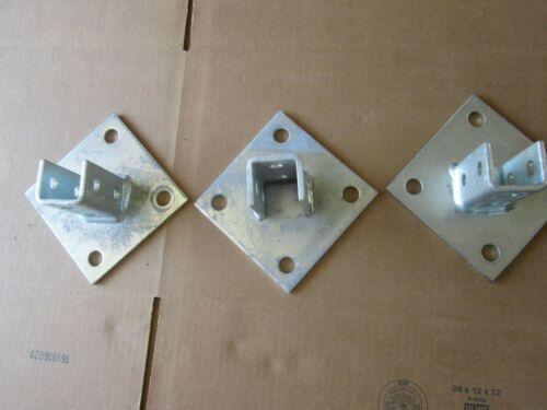 Lot of 3 Unistrut Square Post Base / Some Oxidation