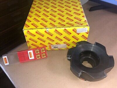 Sandvik Face Mill A490-127r38-14l 5 With 4 Inserts