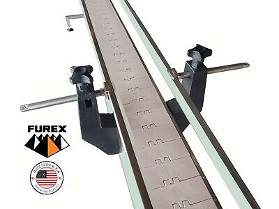 Furex Stainless Steel 8 X 4 Inline Conveyor With Plastic Table Top Belt