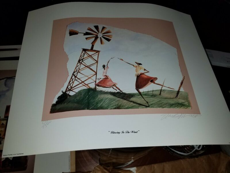 Blowing in the Wind Frank Morrison signed limited edition African American Art