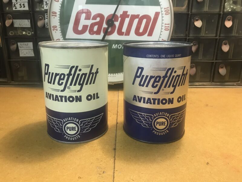 Pureflight Aviation Oil Can Full Quart Metal Can Full Can Pure Oil Comp 2 For 1