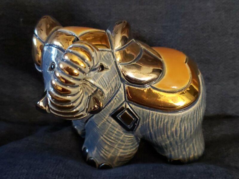 Artesania Rinconada Elephant #719 Silver Anniversary no flaws