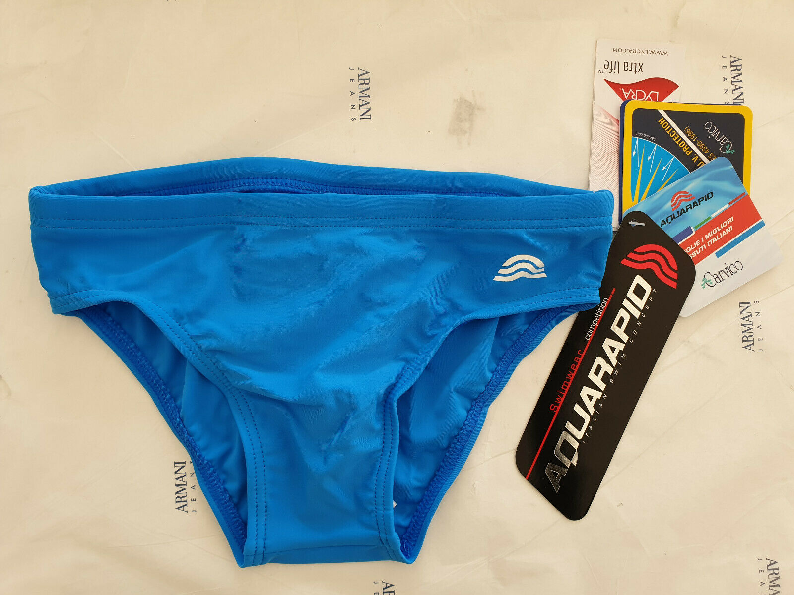 COSTUME DA BAGNO AQUARAPID BAMBINO BAIKO NEW CLUB BLU CINA PISCINA MARE SWIMSUIT