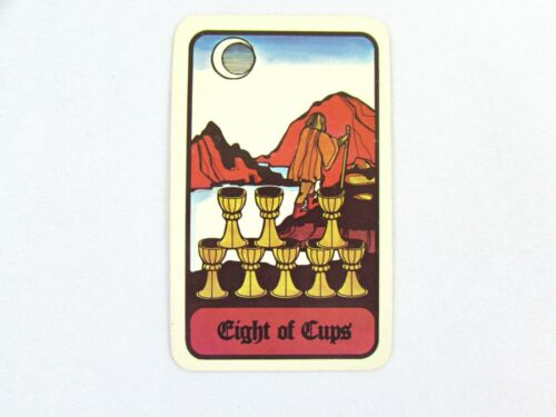 Vintage 1972 Hoi Polloi Tarot *Single Replacement Card* Eight of Cups