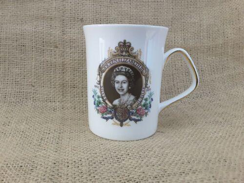 Queen Elizabeth II Silver Jubilee Cup w/Gold Trim Fine Bone China