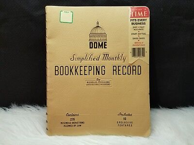 Dome Simplified Monthly Bookkeeping Record Spiral-bound By Nicholas Picchione