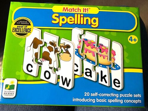 Match It!   SPELLING  Puzzle Game   for ages 4 and up    NEW!