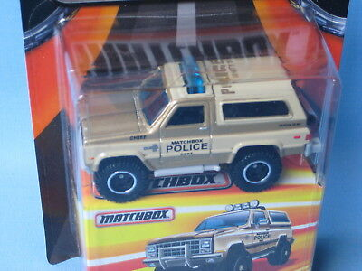 Matchbox Chevy Blazer Police 70mm Toy Model Car in BP USA Best of (Best Police Cars Usa)