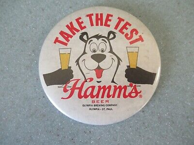 Hamm's beer 'Take the Test' button / pinback
