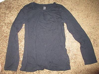 Girls The Childrens Place Black Long Sleeve L 10-12 Shirt EUC