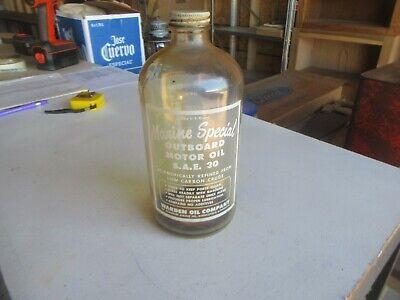 Vintage Quart Marine Special Outboard Oil Glass Jar Only 1 on eBay Lot 20-56