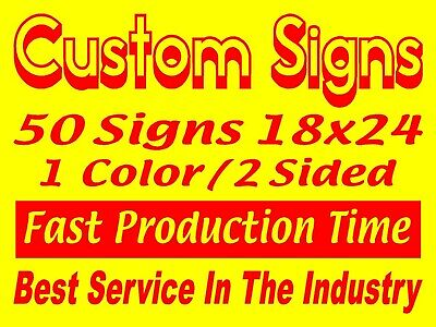 50 18x24 1color2sided Yard Signs. Real Estate Campaign Political Business