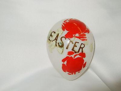 Antique Hand Blown Milk Glass Easter Egg