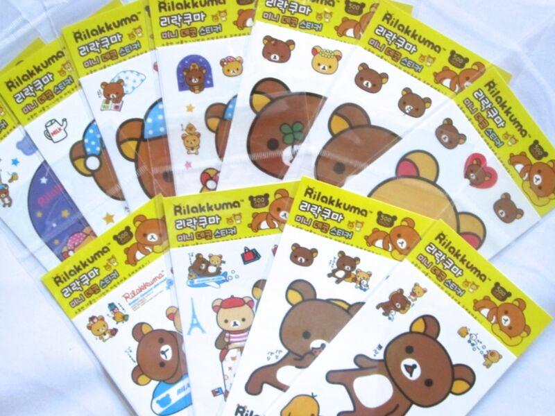 Rilakkuma Mini Sticker Sheet (Your Choice of Design)~KAWAII!!